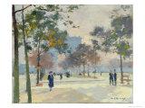 The Arc de Triomphe in Autumn, Paris Giclee Print by Jules Ernest Renoux