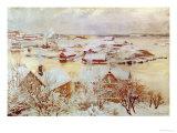 December Day Giclée-tryk af Albert Edelfelt