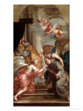 The Communion of St. Bonaventure Giclée-Druck von Sir Anthony Van Dyck