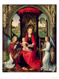 Madonna and Child with Two Angels Giclee Print by Hans Memling