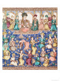 Musicians and Dancers at the Court of Nasser Al-Din Shah Qajar Giclée-tryk