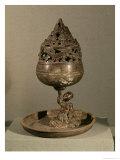 Censer in Shape of Cosmic Mountain Po-Shan-Lu, Tomb of Princess Tou Wen, Hebei, Western Han Dynasty Gicléedruk