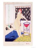 The Bath, Illustration from Modes et Manieres D'Aujourd'Hui, 1913 Giclee-trykk av Charles Martin