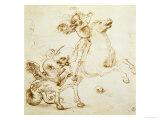 Saint Georges combattant le dragon Reproduction procédé giclée par  Raphael