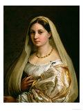 The Veiled Woman, or La Donna Velata, c.1516 Reproduction procédé giclée par  Raphael