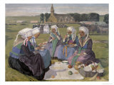 Women of Plougastel at the Pardon of Notre-Dame de La Palud, 1903 Giclee Print by Charles Cottet