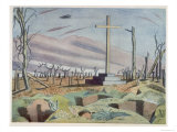 Canadian Monument, British Artists at the Front, Continuation of the Western Front, Nash, 1918 Giclee Print by Paul Nash
