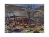 Air Fight at Wytschaete Giclee Print by Paul Nash