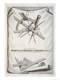 Architects' and Surveyors' Tools, a Trompe L'Oeuil Gicléetryck av Michael van der Gucht