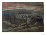 Sanctuary Wood, British Artists at the Front, Continuation of the Western Front, Nash, 1918 Giclee Print by Paul Nash