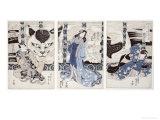 Yatsuhashi at Okasaki, Tokaido Gojusan Eki No Uchi, The 53 Stations of Tokaido, c.1835 Giclee Print by Utagawa Kunisada
