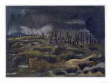 Nightfall, British Artists at the Front, Continuation of the Western Front, Part Three, Nash, 1918 Giclee Print by Paul Nash