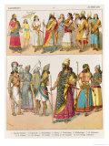 Assyrian Dress, from Trachten Der Voelker, 1864 Giclee Print by Albert Kretschmer