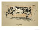 Probation, 1930, 1st Edition of Sleeping Partners Giclée-Druck von Cecil Aldin