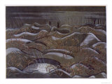 Hill 60 from the Cutting, British Artists at the Front, Continuation of the Western Front, c.1918 Giclee Print by Paul Nash