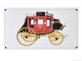 Concord Stagecoach Used by Wells Fargo and Co. Made in Concord, New Hampshire Gicléedruk van  American School