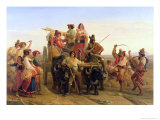 The Arrival of the Harvesters in the Pontine Marshes, 1830 Giclee Print by Louis Leopold Robert