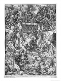 Apocalypse, the Opening of the Seventh Seal, the Seven Angels, Latin Edition, 1511 Reproduction procédé giclée par Albrecht Dürer