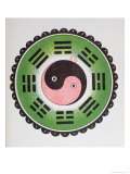 Taijitu, Traditional Symbol Representing the Principles of Yin and Yang Giclée-tryk