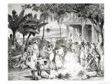 Landu Dance, Engraved by Victor Adam and Monthellier Giclee Print by Johann Moritz Rugendas