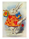 The White Rabbit, Illustration from Alice in Wonderland by Lewis Carroll Giclée-tryk af John Tenniel