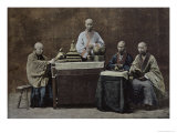Group of Chinese Bonzes, Engraved and Printed by Gilot, 1896 Gicléedruk