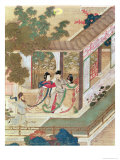 Romantic Meeting, Illustration from a Traditional Chinese Novel Gicléedruk