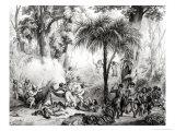 Guerillas, Engraved by Victor Adam Giclee Print by Johann Moritz Rugendas
