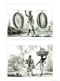 Head Baskets and a Poultry Seller, from Voyage Pittoresque et Historique Au Bresil Giclee Print by Jean Baptiste Debret