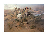 Indians Discovering Lewis and Clark, 1896 Giclée-tryk af Charles Marion Russell