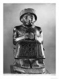 Gudea, Prince of Lagash, Dedicated to Ningizzada, Neo-Sumerian, Telloh, Ancient Girsu, c.2130 BC Lámina giclée por  Mesopotamian