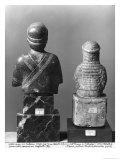 Woman with the Shawl, Woman Holding an Aryballos, Neo-Sumerian, Telloh, Ancient Girsu, c.2150 BC Lámina giclée por  Mesopotamian