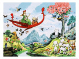 Gulliver Guinea-Pig Saves Summer Giclée-tryk af Gordon Hutchings