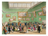 Christie's Auction Room, Aquatinted by J. Bluck Giclee Print by Thomas Rowlandson