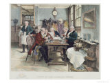 Toddy at the Cheshire Cheese, Published 1896 Gicléetryck av Walter Dendy Sadler