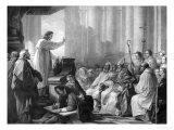 St. Augustine Preaching Before Valere, Bishop of Hippo Giclee Print by Carle van Loo