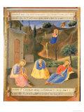Agony in the Garden, Panel Three of the Silver Treasury of Santissima Annunziata, c.1450-53 Giclée-vedos tekijänä  Fra Angelico