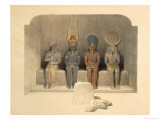Sanctuary of the Temple of Abu Simbel, from Egypt and Nubia, Vol.1 Giclee Print by David Roberts