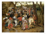 The Wedding Feast Giclée-vedos tekijänä Pieter Brueghel the Younger