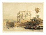 Hypaethral Temple at Philae, Bed of Pharaoh, Plate 65, Vol.II Egypt and Nubia, Engraved Haghe Giclee Print by David Roberts