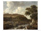 Mountainous Wooded Landscape with a Torrent Giclee Print by Jacob Isaaksz. Or Isaacksz. Van Ruisdael