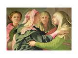 The Visitation Giclée-tryk af Jacopo da Carucci Pontormo