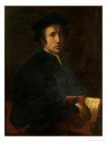 Portrait of the Musician Francesco Dell'Ajolle, c.1518 Giclée-tryk af Jacopo da Carucci Pontormo