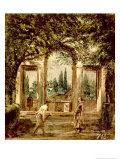 The Gardens of the Villa Medici in Rome, c.1650-51 Reproduction procédé giclée par Diego Velazquez