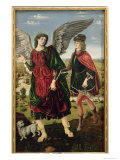 Tobias and the Archangel Raphael Giclée-tryk af Antonio Pollaiolo