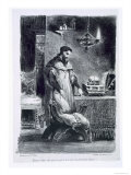 Faust in His Study, from Goethe's Faust, 1828 Giclee Print by Eugene Delacroix