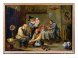 Surgeon Tending the Foot of an Old Man Giclée-Druck von David Teniers the Younger
