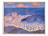 Blue Seascape, Wave Effect, c.1893 Giclee Print by Georges Lacombe