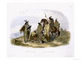 Elkhorn Pyramid, Upper Missouri, Travels in the Interior of North America, c.1843 Stampa giclée di Karl Bodmer
