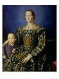 Portrait of Eleanor of Toledo and Her Son, Giovanni de Medici, c.1544-45 Giclée-Druck von Agnolo Bronzino